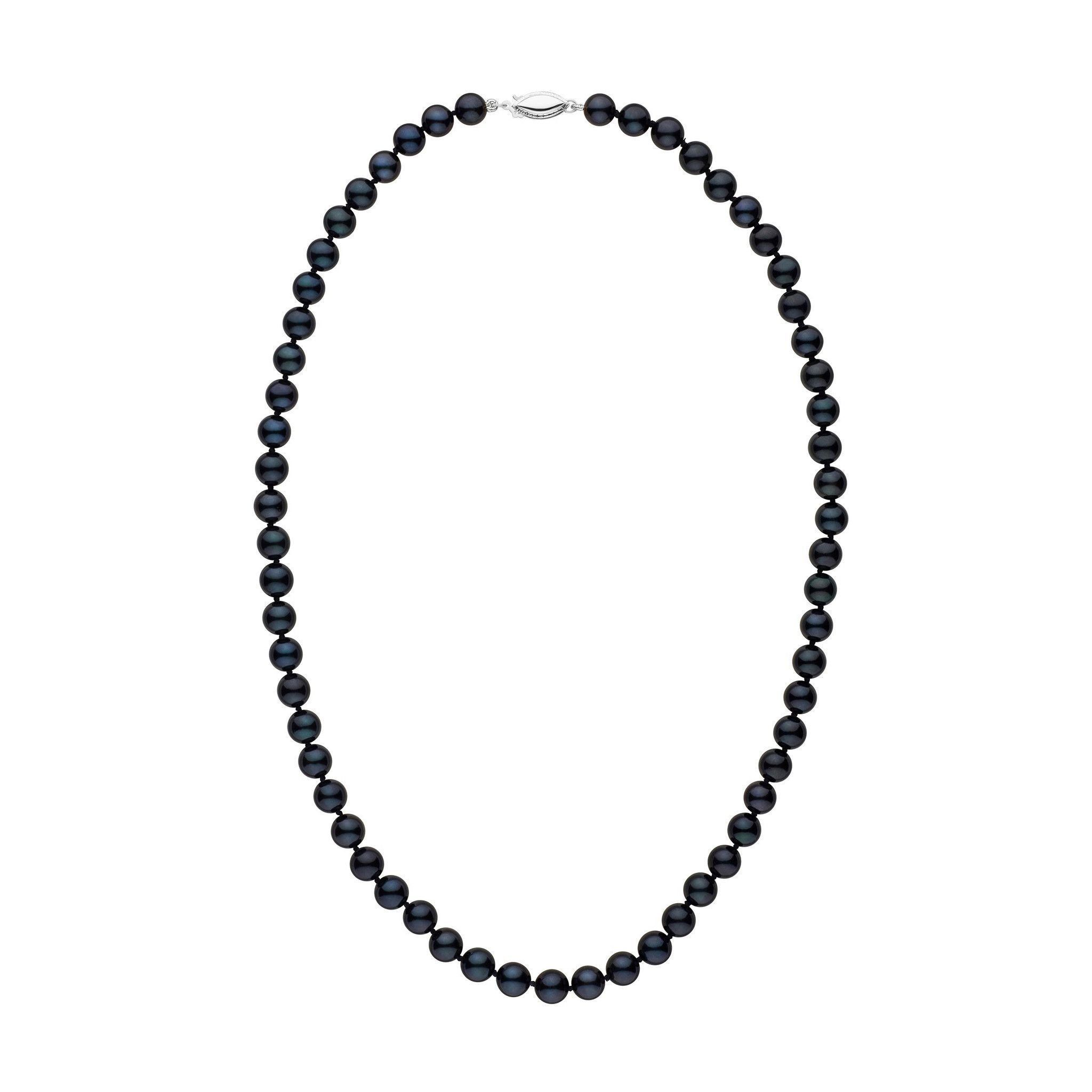 6.5-7.0 mm 18 inch AA+ Black Akoya Pearl Necklace