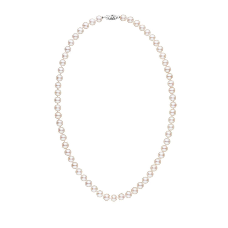6.5-7.0 mm 18 Inch AA+ White Freshwater Pearl Necklace