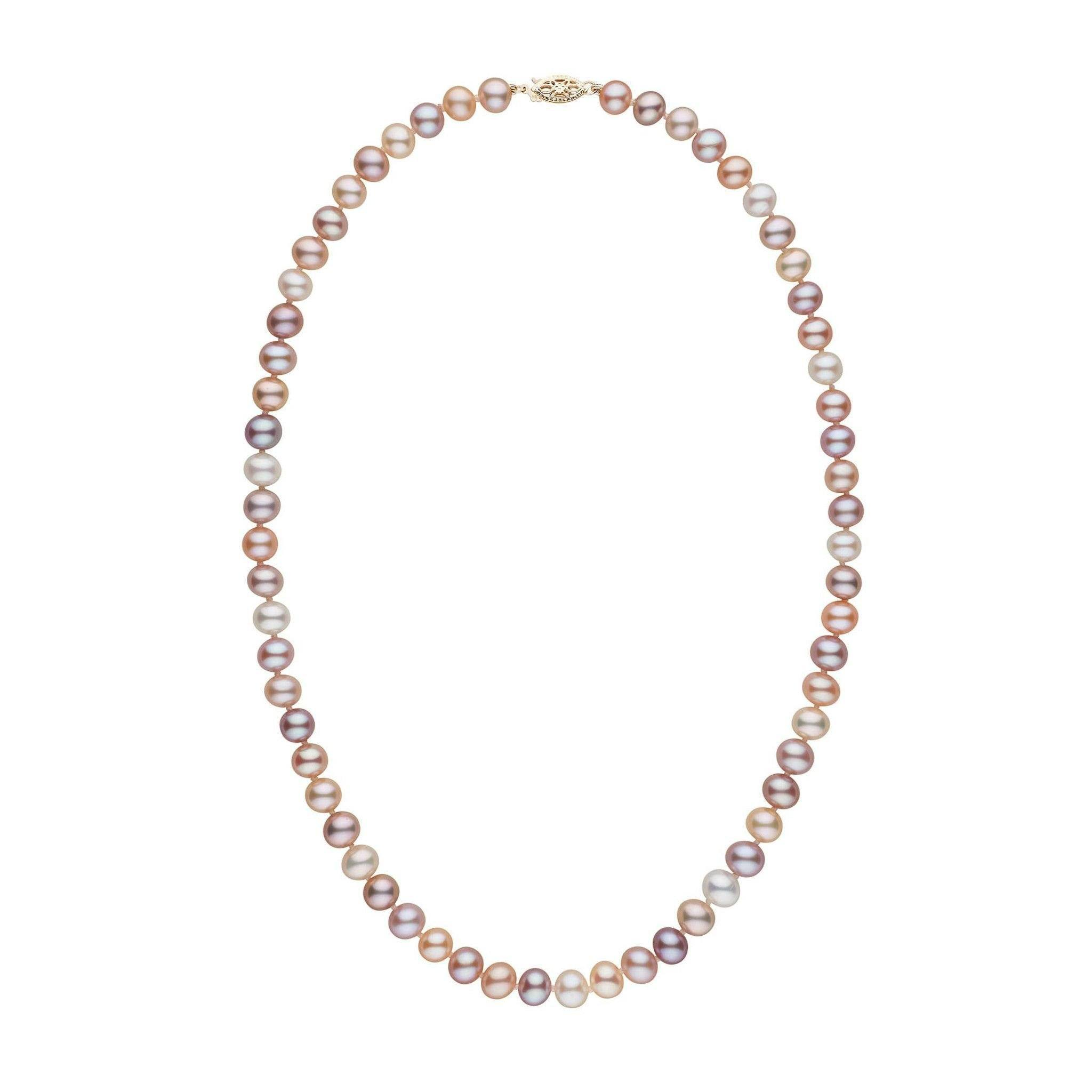 6.5-7.0 mm 18 Inch AAA Multicolor Freshwater Pearl Necklace