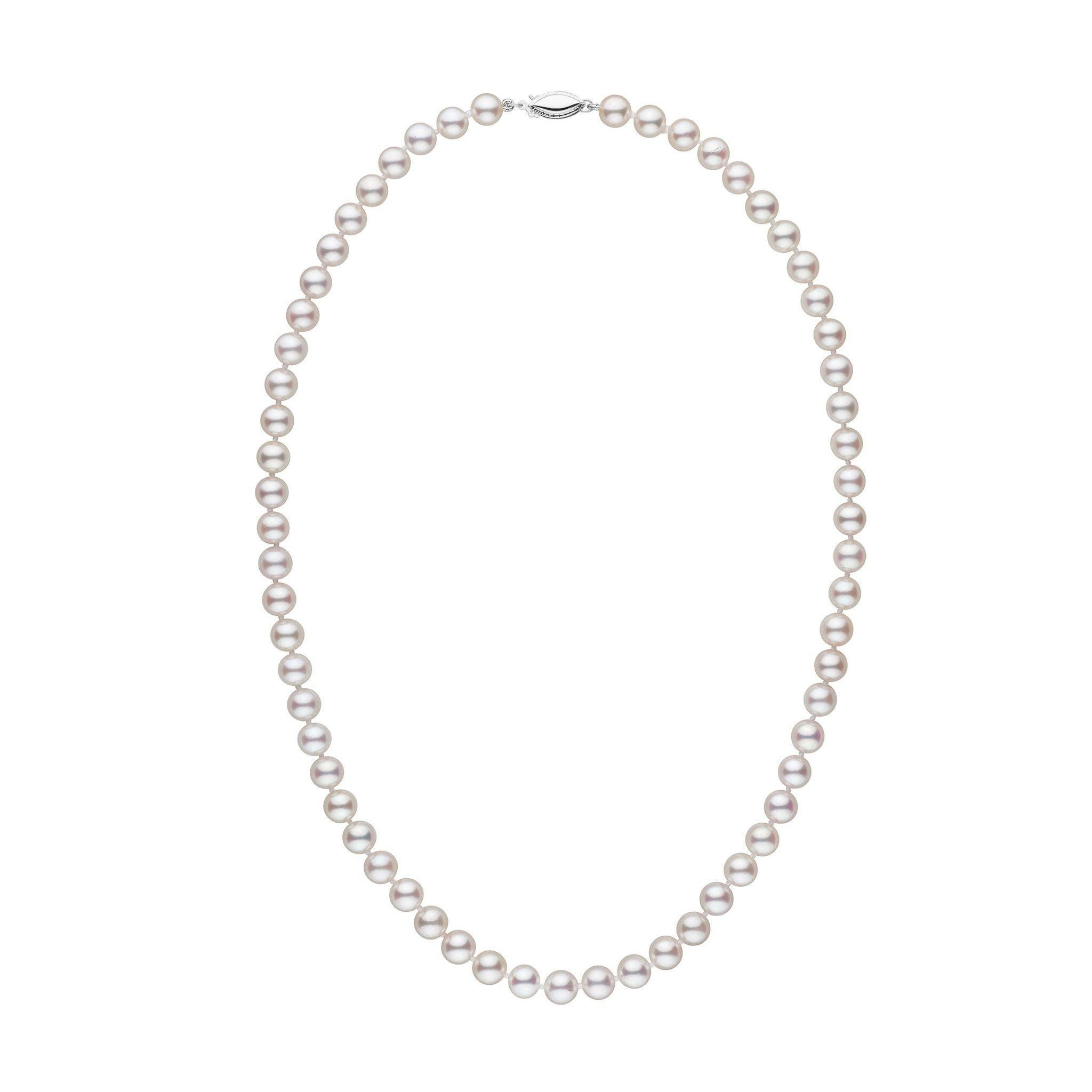 6.5-7.0 mm 18 Inch AAA White Akoya Pearl Necklace