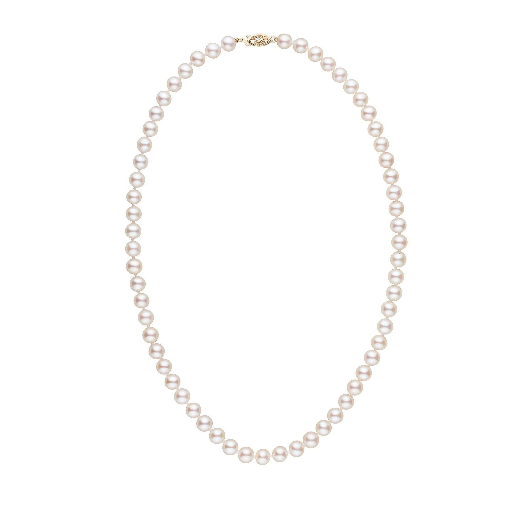 6.5-7.0 mm 18 Inch AAA White Freshwater Pearl Necklace