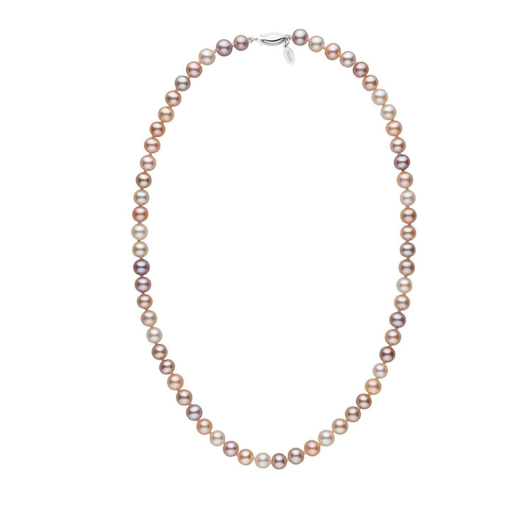 6.5-7.0 mm 18 Inch Multicolor Freshadama Freshwater Pearl Necklace