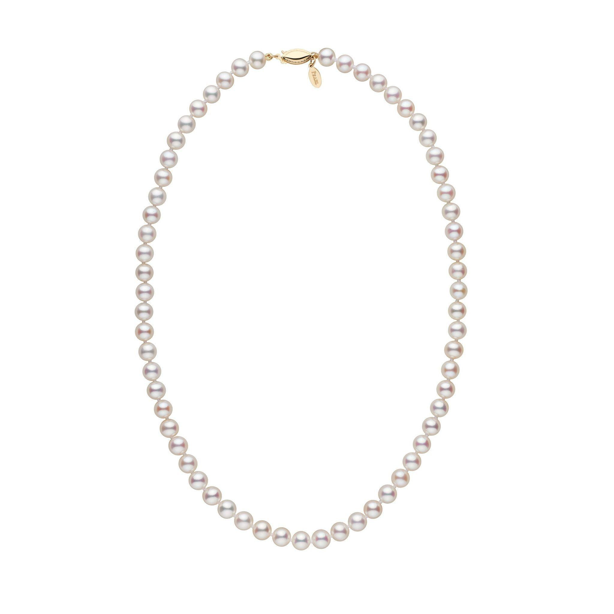 6.5-7.0 mm 18 Inch White Freshadama Freshwater Pearl Necklace