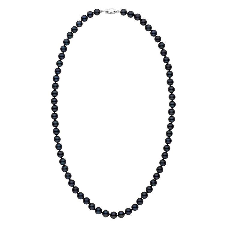 6.5-7.0 mm 22 inch AA+ Black Akoya Pearl Necklace