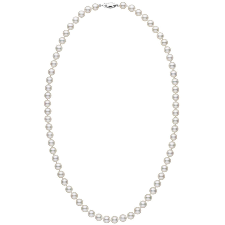 6.5-7.0 mm 22 Inch AA+ White Akoya Pearl Necklace