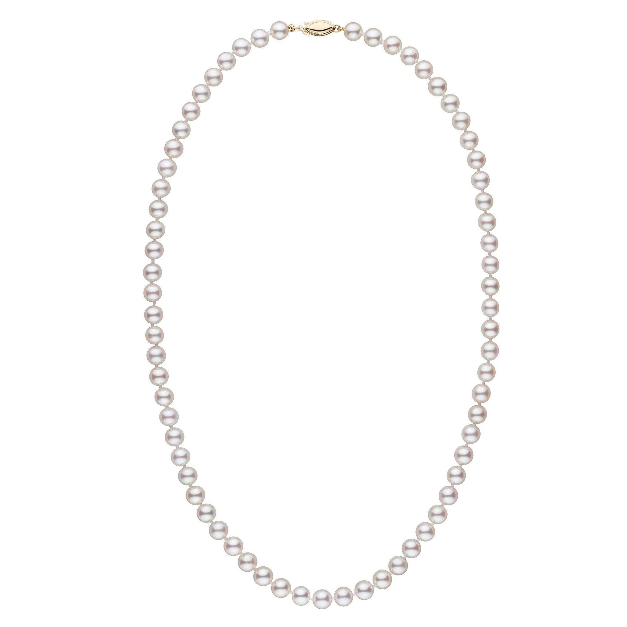 6.5-7.0 mm 22 Inch AAA White Akoya Pearl Necklace