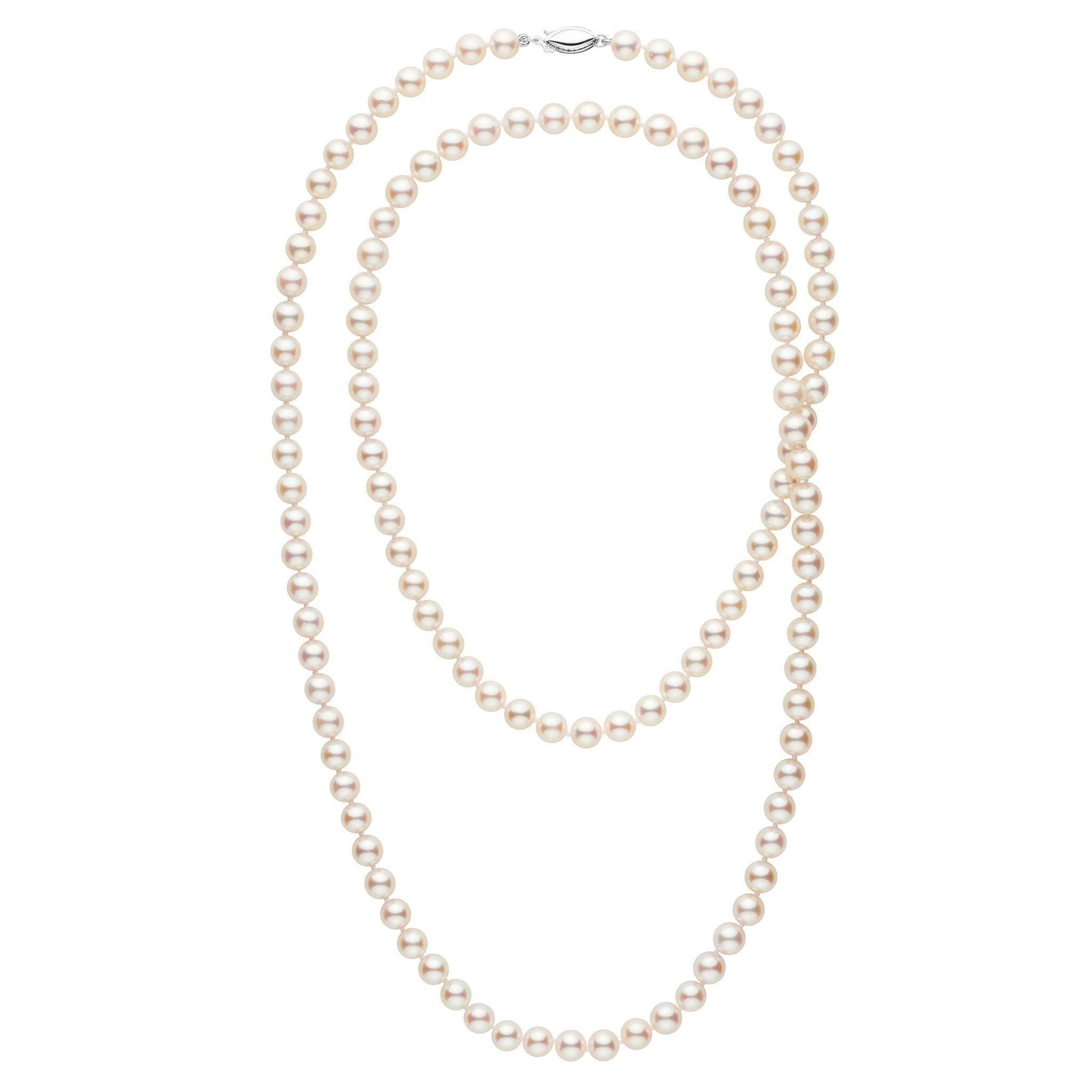 6.5-7.0 mm 35 Inch AAA White Akoya Pearl Necklace