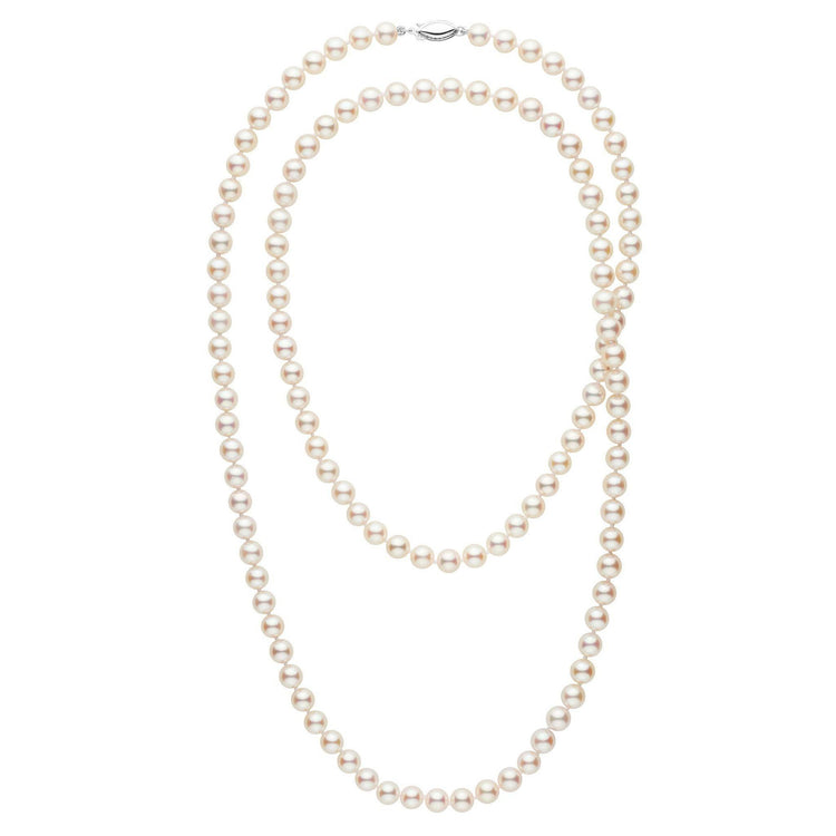6.5-7.0 mm 36 Inch AAA White Akoya Pearl Necklace