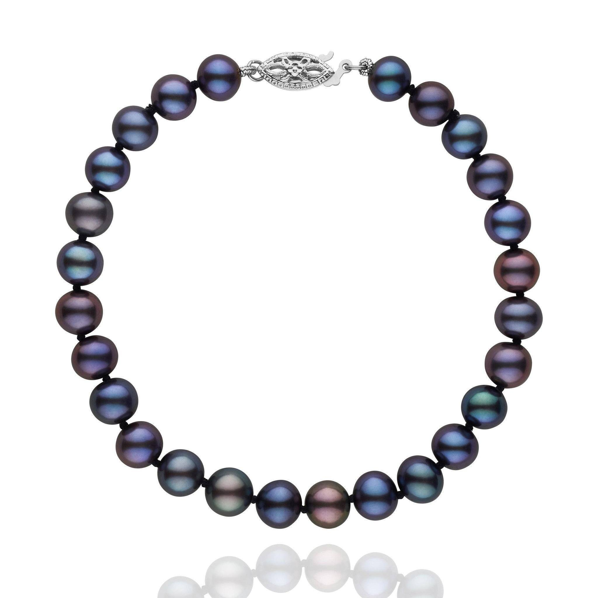 strand pearl coleman products cultured black peacock freshwater bracelet