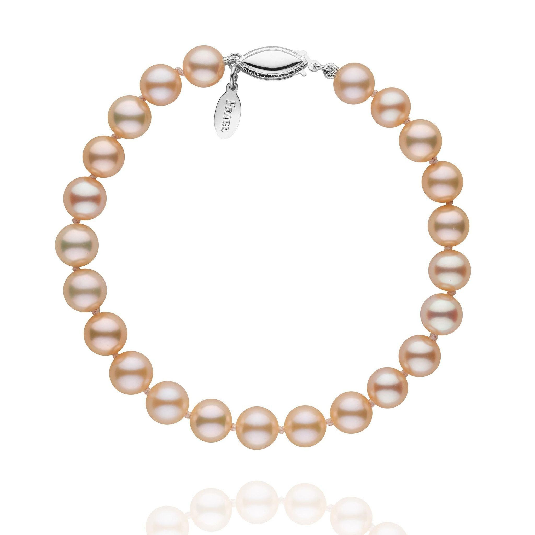 6.5-7.0 mm Pink to Peach Freshadama Pearl Bracelet