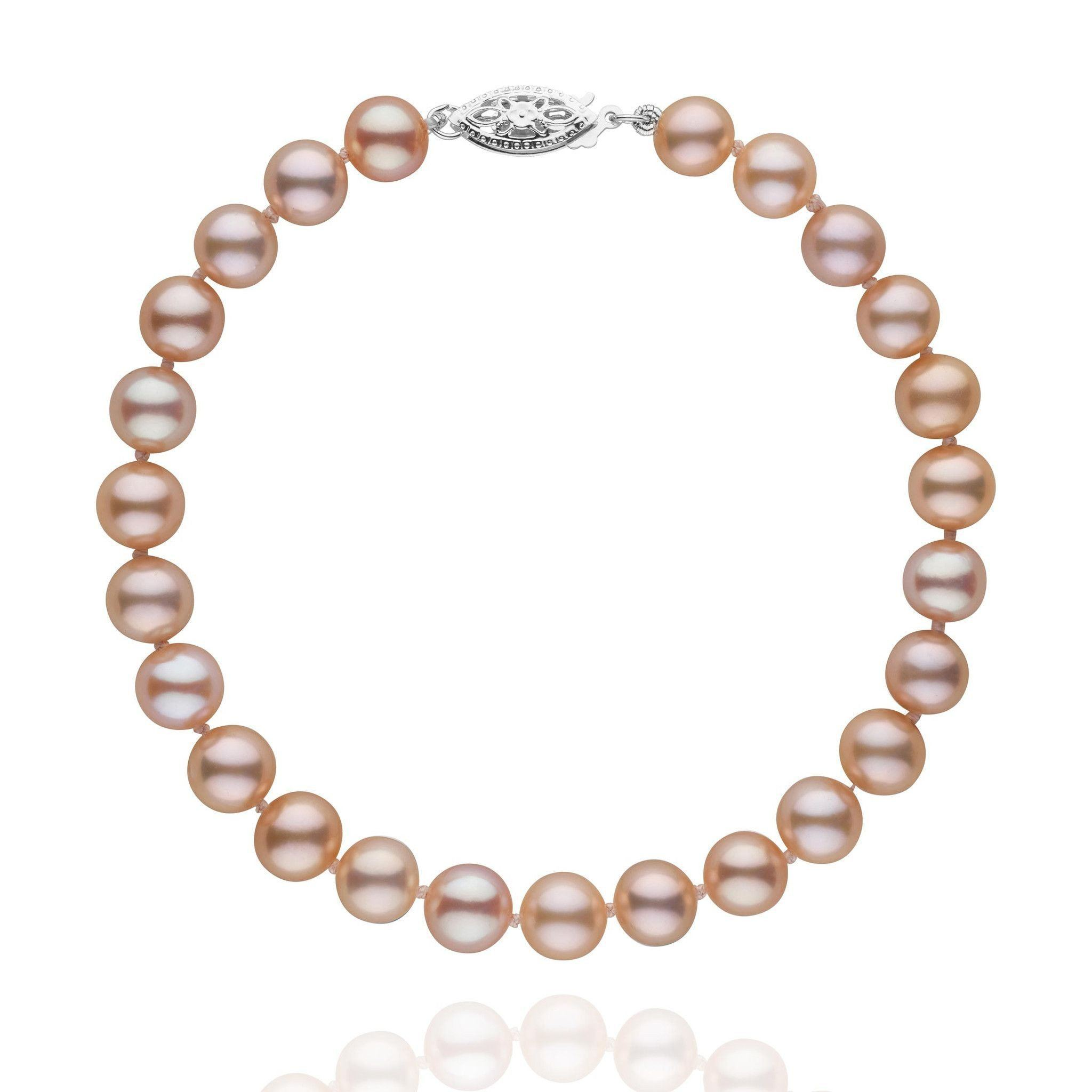 6.5-7.0 mm Pink to Peach Freshwater AAA Pearl Bracelet