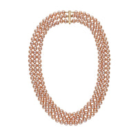 6.5-7.0 mm Triple-Strand AA+ Pink to Peach Freshwater Pearl Necklace