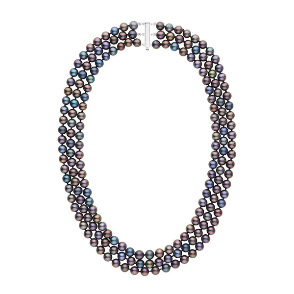 e49654c9c24 6.5-7.0 mm Triple-Strand AAA Black Freshwater Pearl Necklace