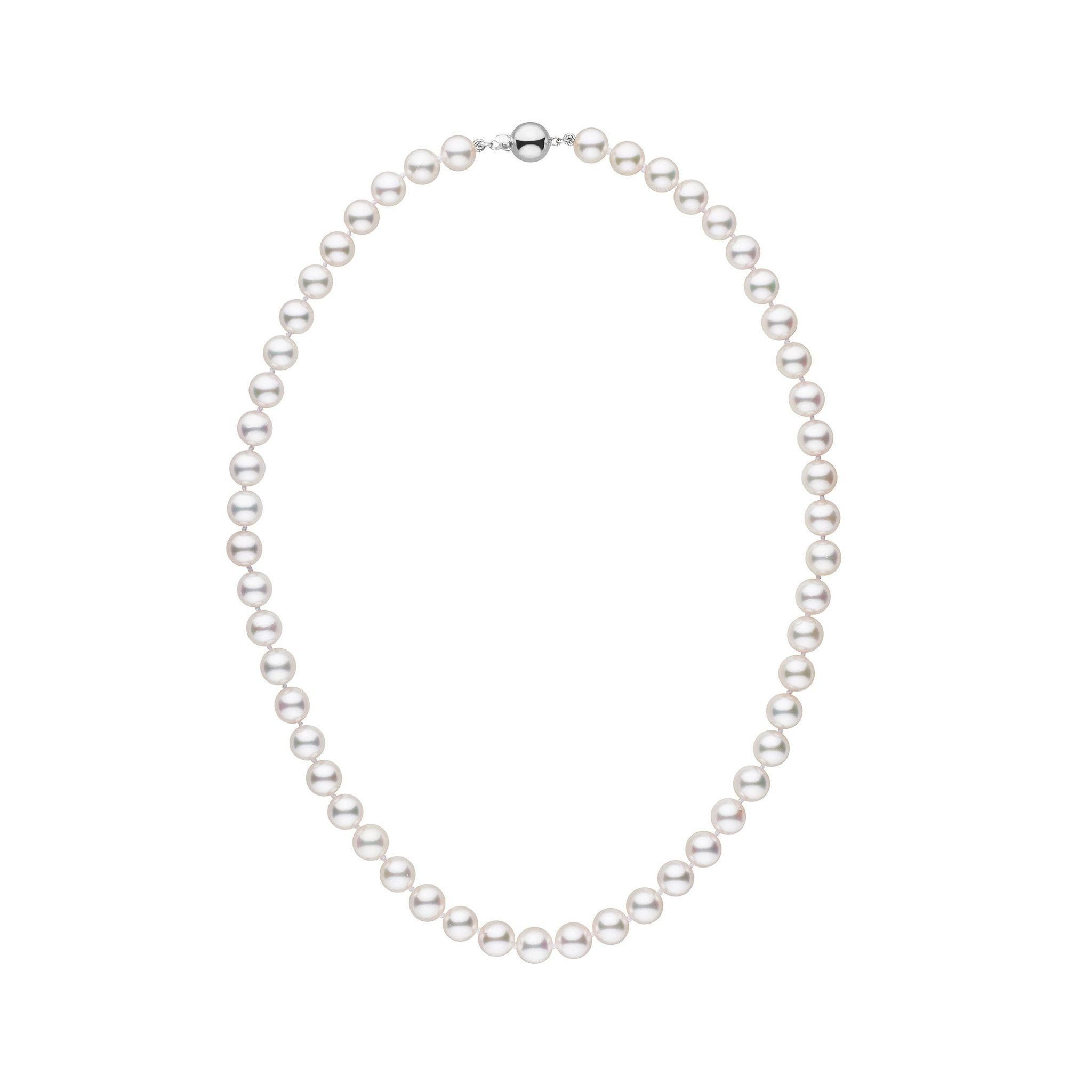 7.0-7.5 mm White Akoya 16 inch AAA Pearl Necklace