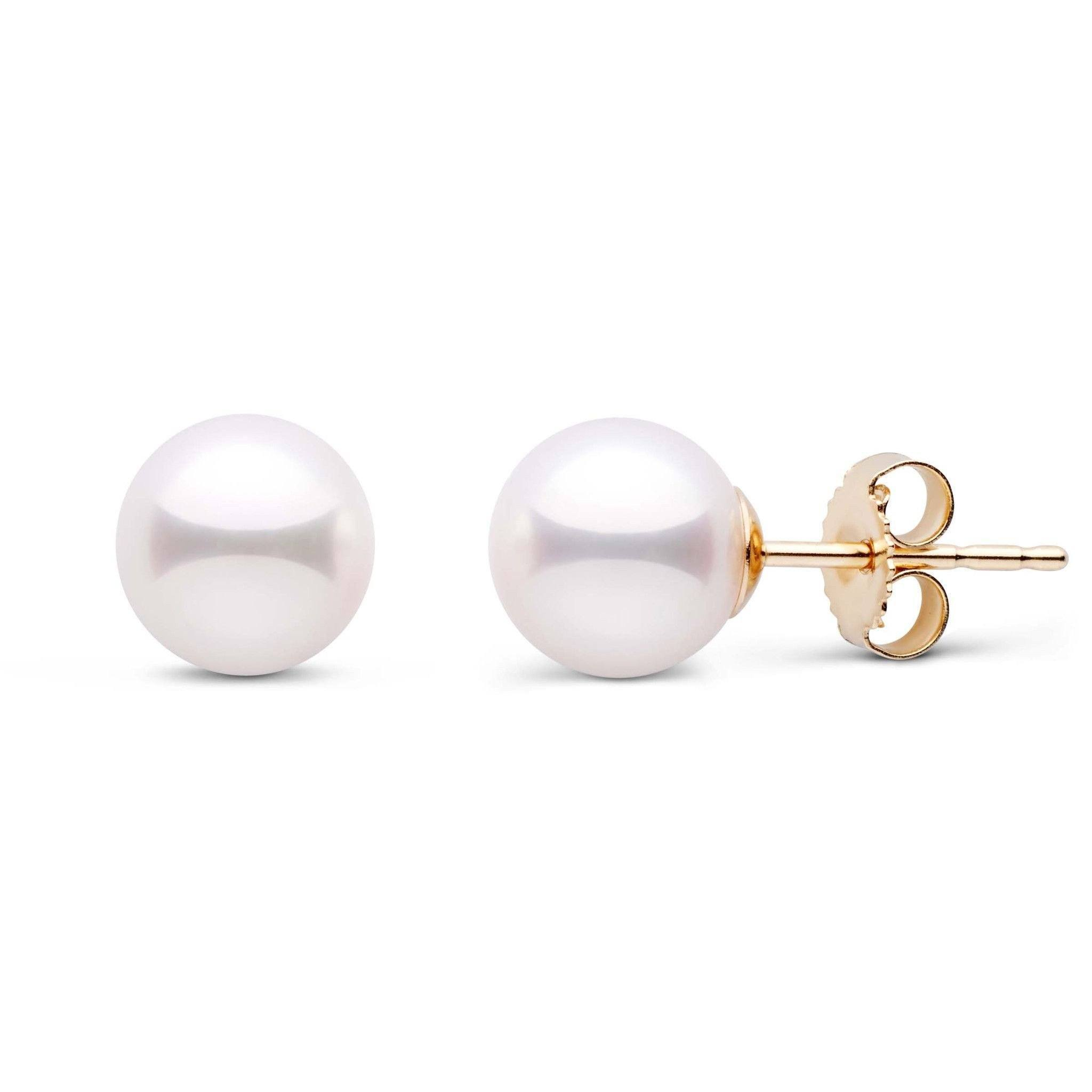7.0-7.5 mm White Akoya AAA Pearl Stud Earrings