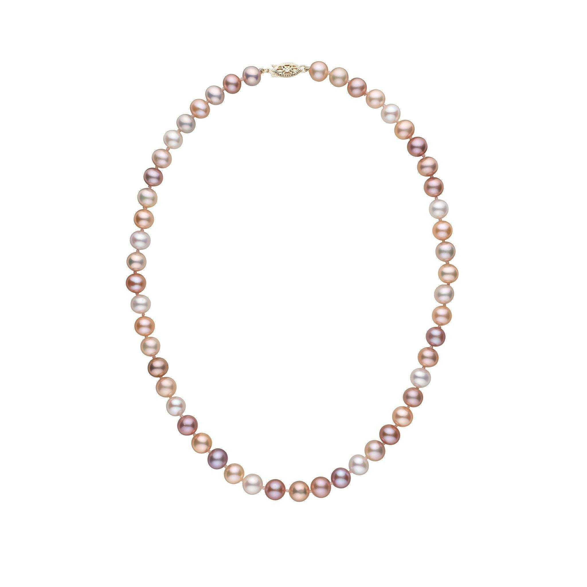 7.5-8.0 mm 16 Inch AA+ Multicolor Freshwater Pearl Necklace