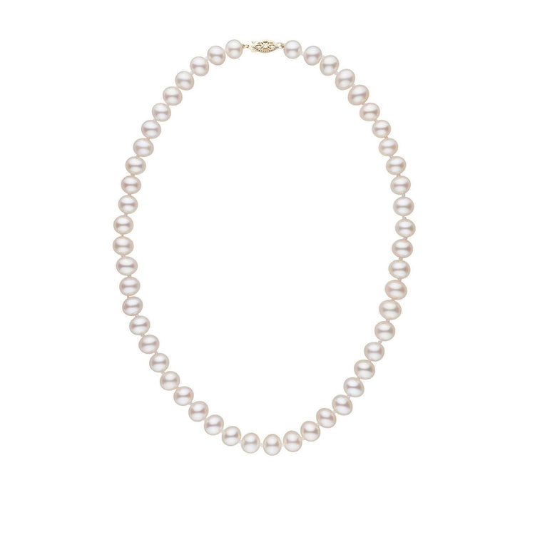 7.5-8.0 mm 16 Inch AA+ White Freshwater Pearl Necklace