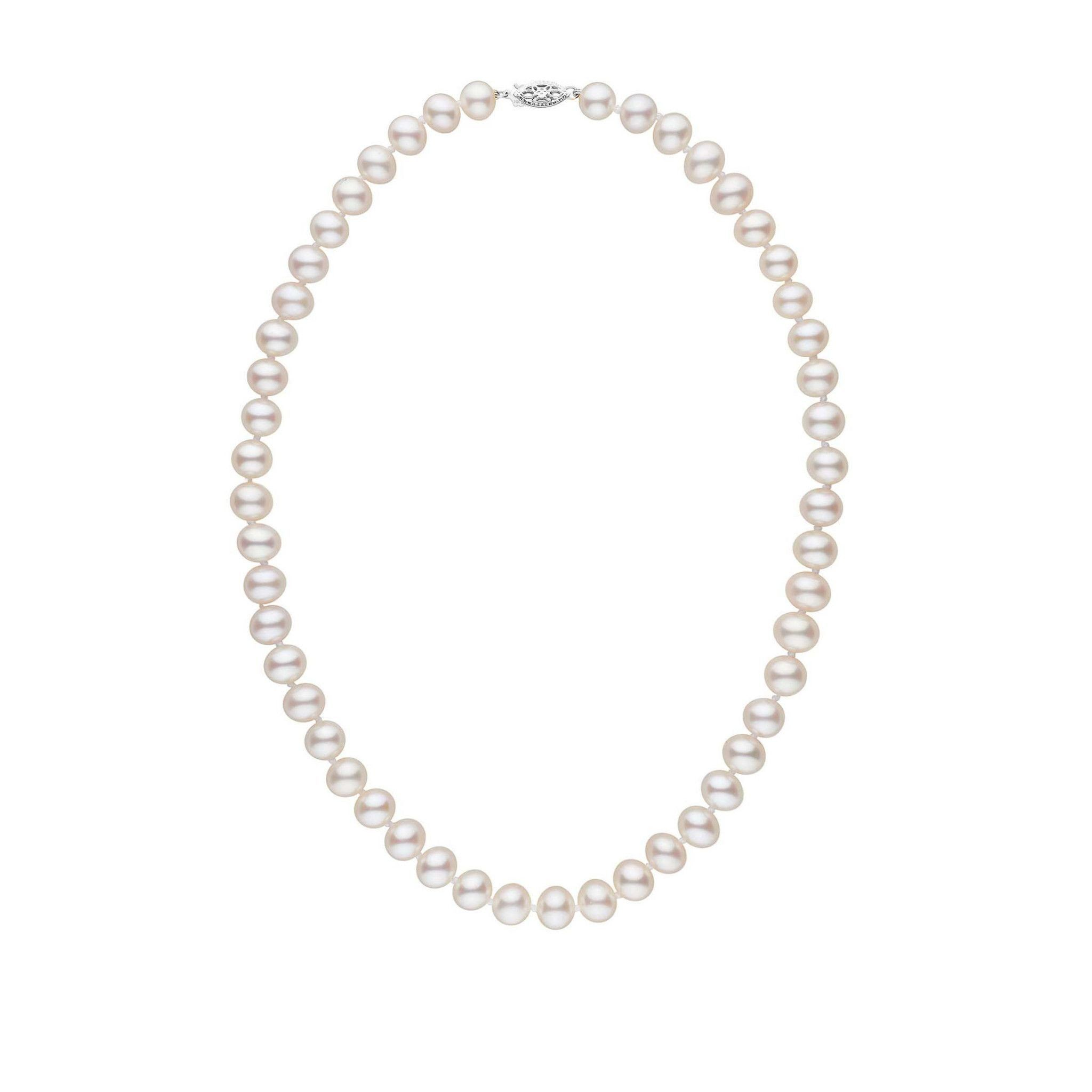 in white pearl gold cultured jewellery pearls necklace akoya
