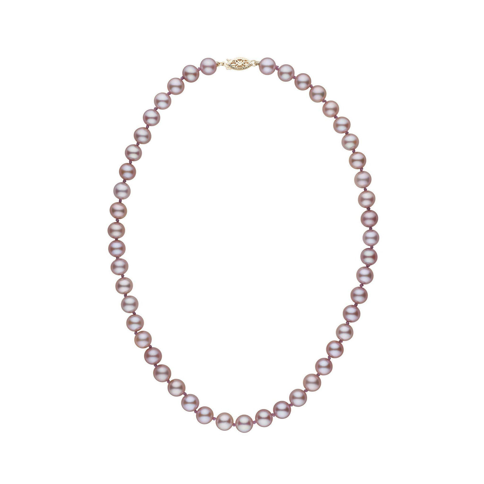 7.5-8.0 mm 16 inch AAA Lavender Freshwater Pearl Necklace
