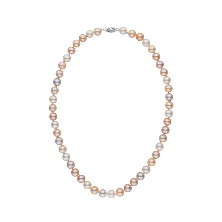 7.5-8.0 mm 16 Inch AAA Multicolor Freshwater Pearl Necklace