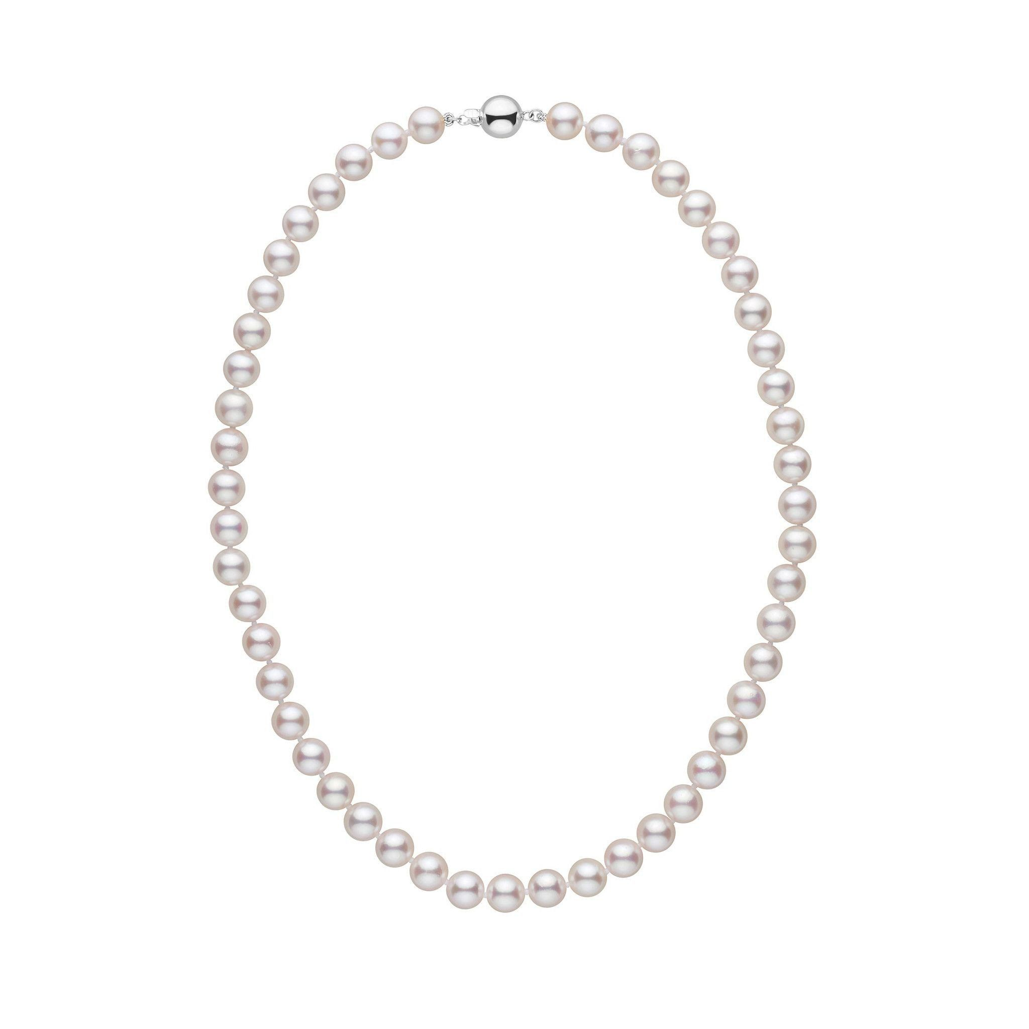 7.5-8.0 mm 16 inch AAA White Akoya Pearl Necklace