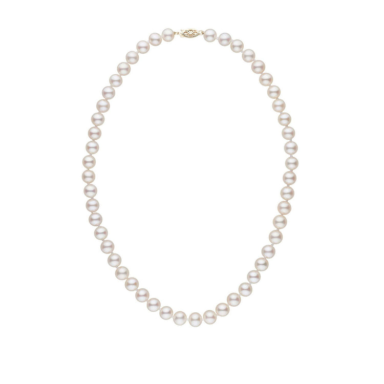 7.5-8.0 mm 16 Inch AAA White Freshwater Pearl Necklace