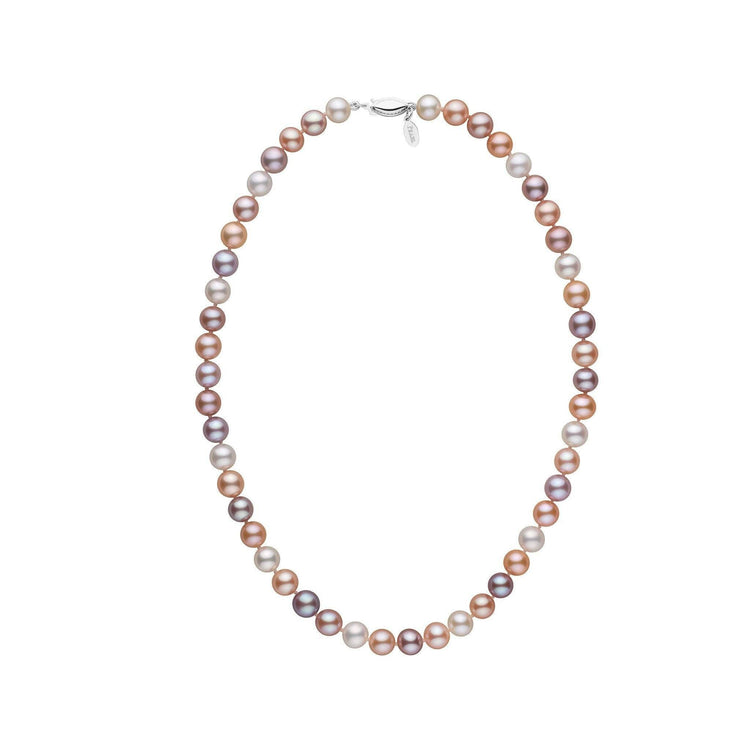 7.5-8.0 mm 16 Inch Multicolor Freshadama Freshwater Pearl Necklace