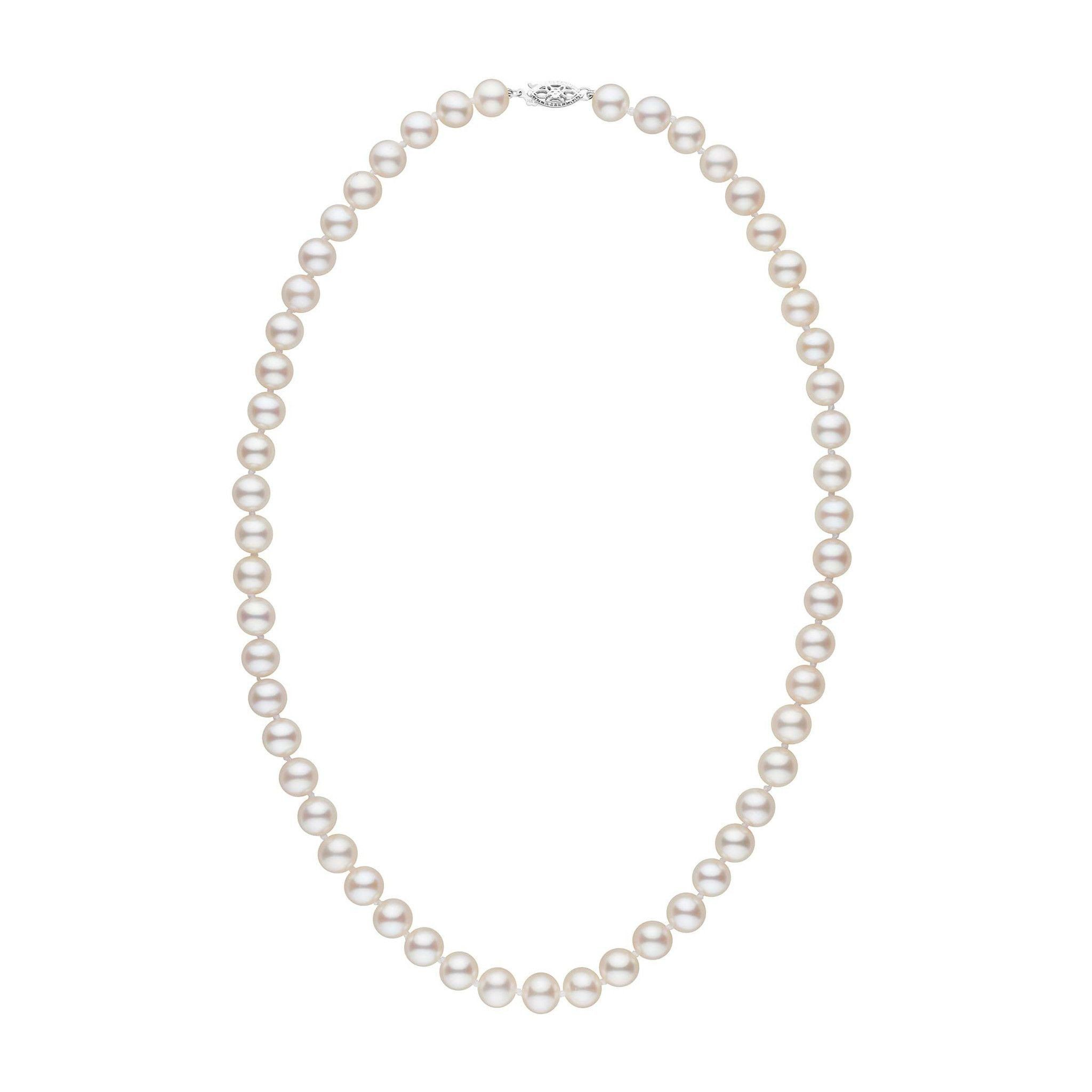 7.5-8.0 mm 18 Inch AA+ White Freshwater Pearl Necklace