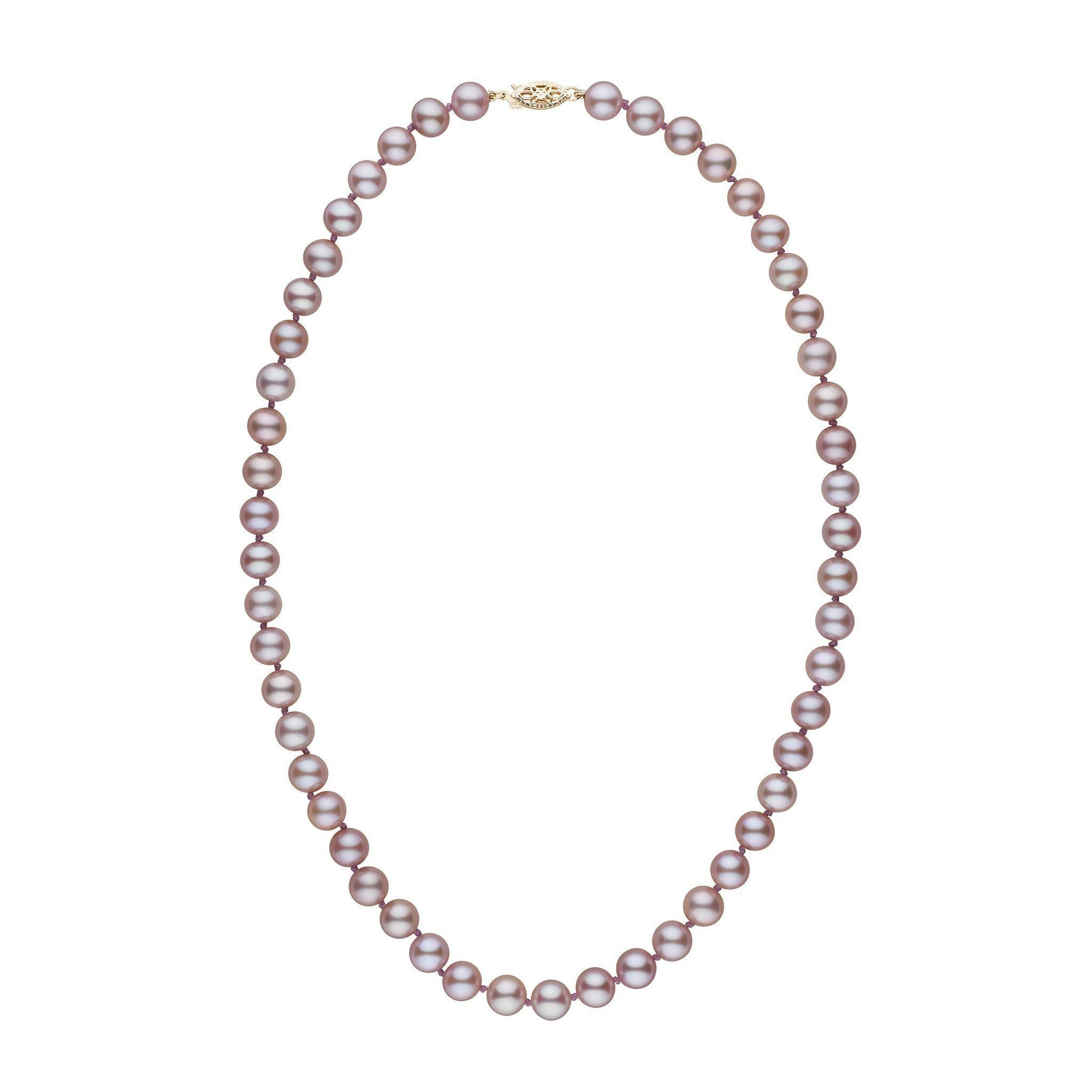 7.5-8.0 mm 18 inch AAA Lavender Freshwater Pearl Necklace