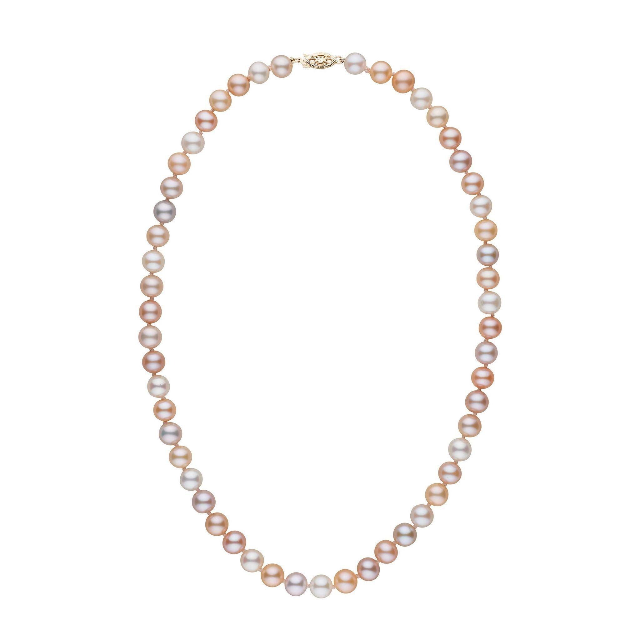 7.5-8.0 mm 18 Inch AAA Multicolor Freshwater Pearl Necklace