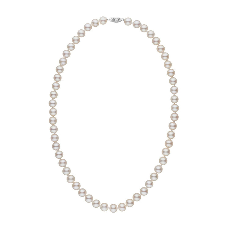 7.5-8.0 mm 18 Inch AAA White Freshwater Pearl Necklace