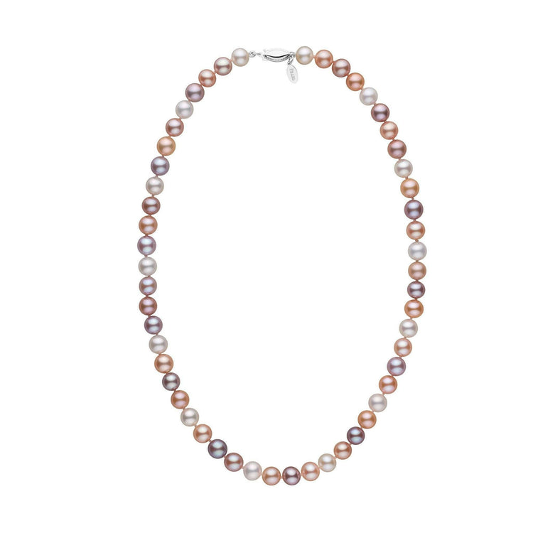 7.5-8.0 mm 18 Inch Multicolor Freshadama Freshwater Pearl Necklace