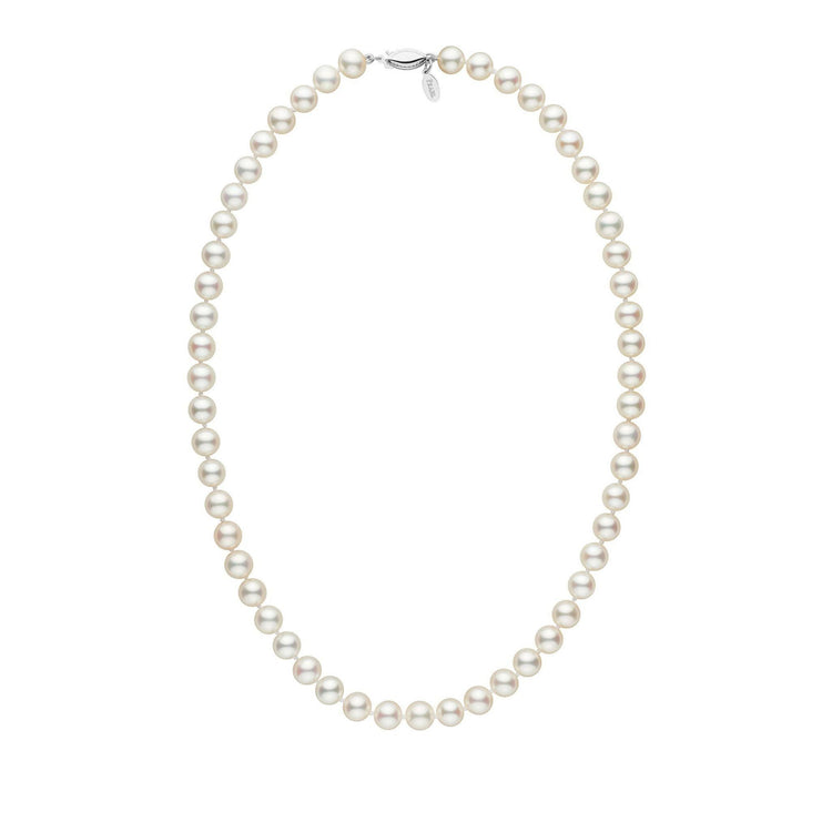 7.5-8.0 mm 18 Inch White Freshadama Freshwater Pearl Necklace