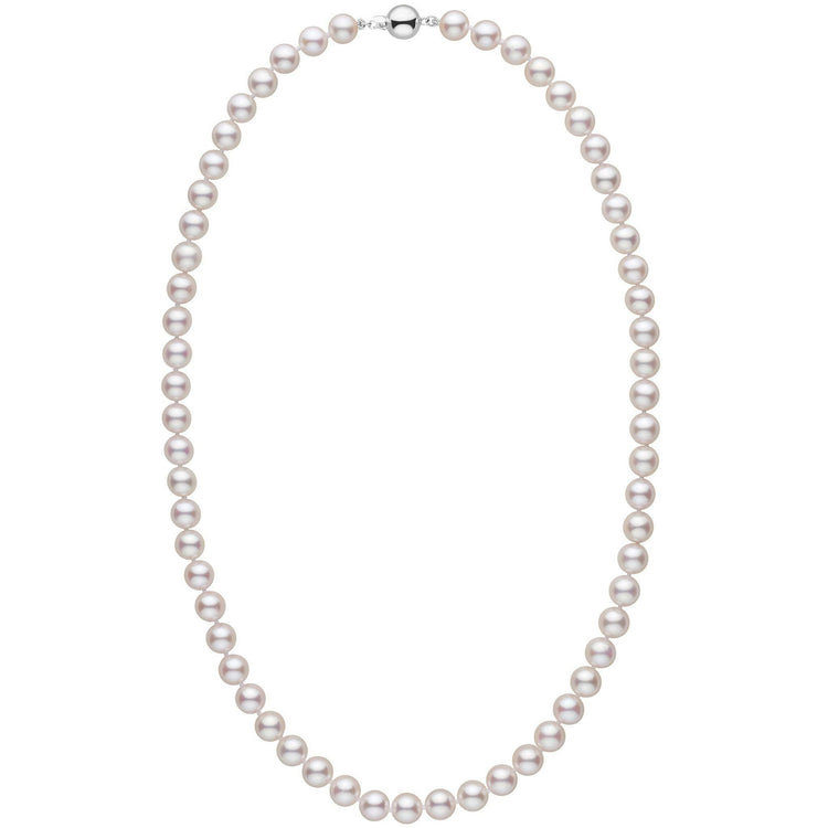 7.5-8.0 mm 22 inch AAA White Akoya Pearl Necklace