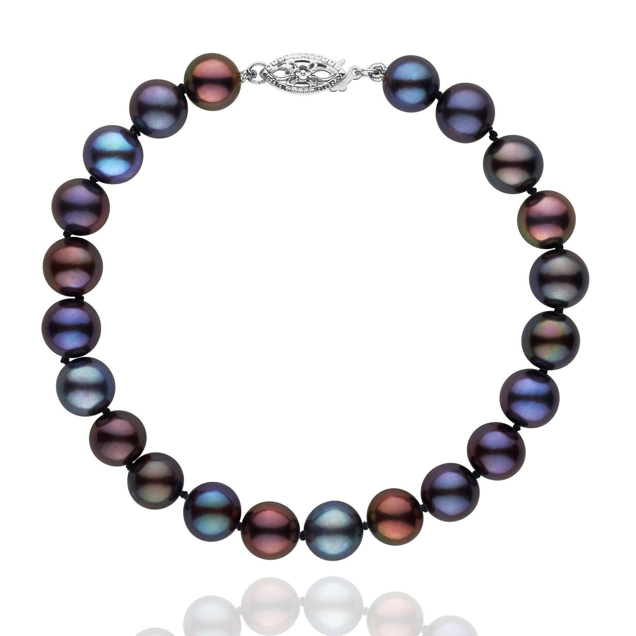 strand products coleman pearl bracelet peacock freshwater black cultured