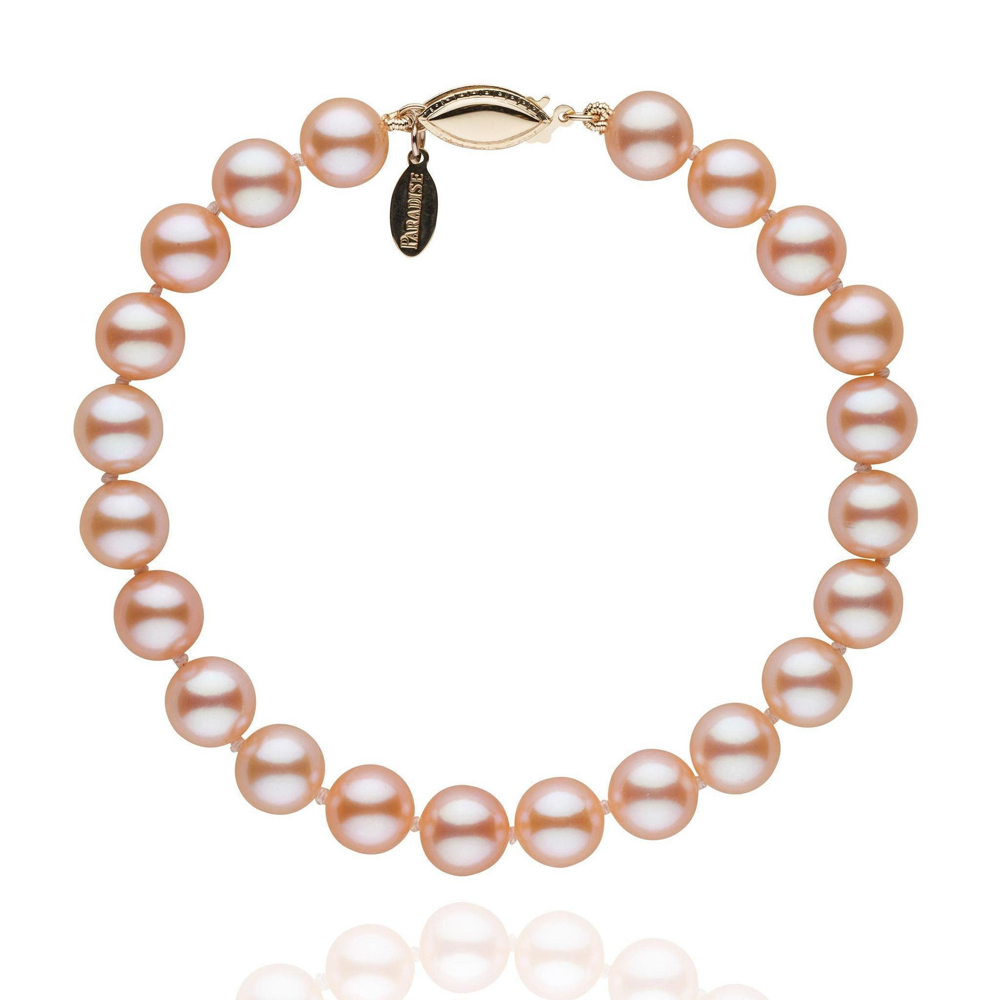 7.5-8.0 mm Pink to Peach Freshadama Pearl Bracelet