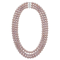 7.5-8.0 mm Triple-Strand AAA Lavender Freshwater Cultured Pearl Necklace