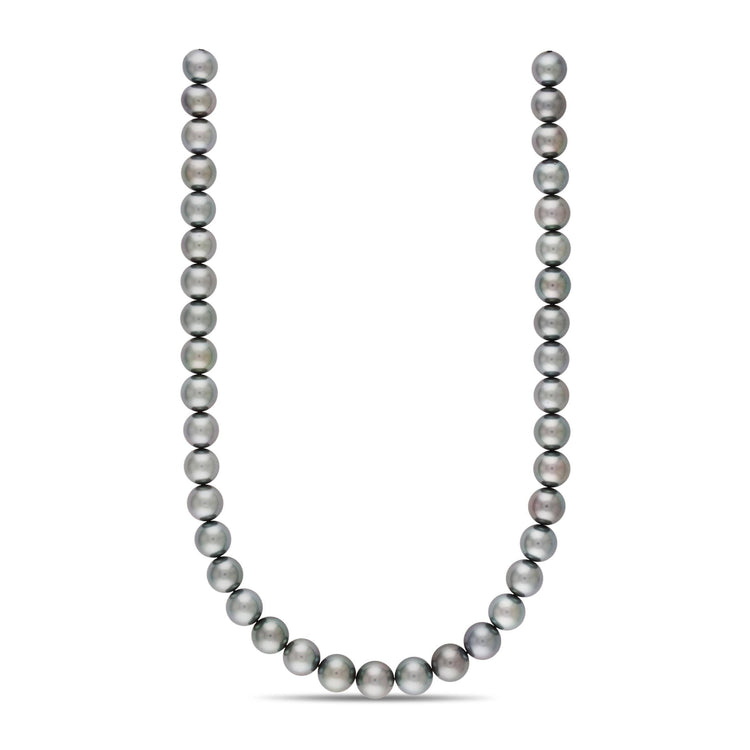 18-inch 10.1-11.9 mm AA+/AAA Round Tahitian Pearl Necklace