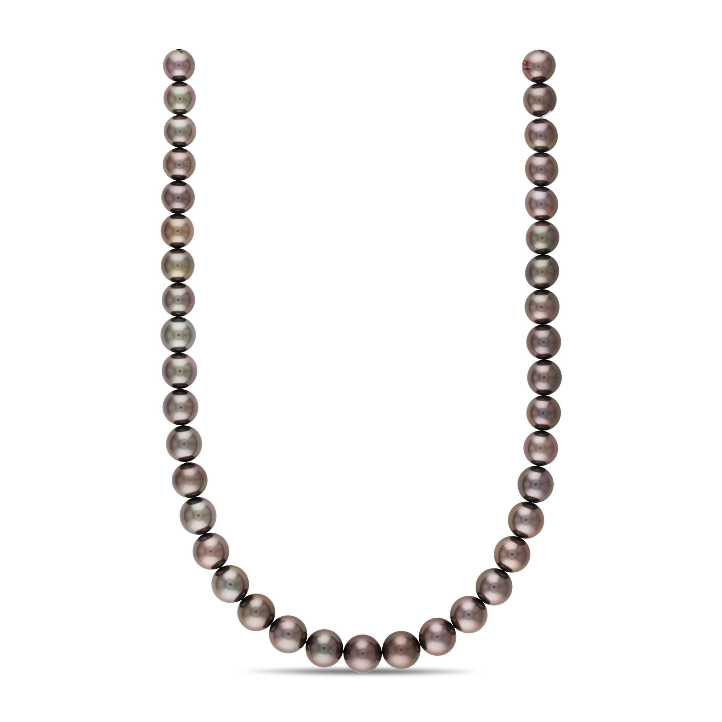 18-inch 10.0-11.8 mm AAA Round Tahitian Pearl Necklace