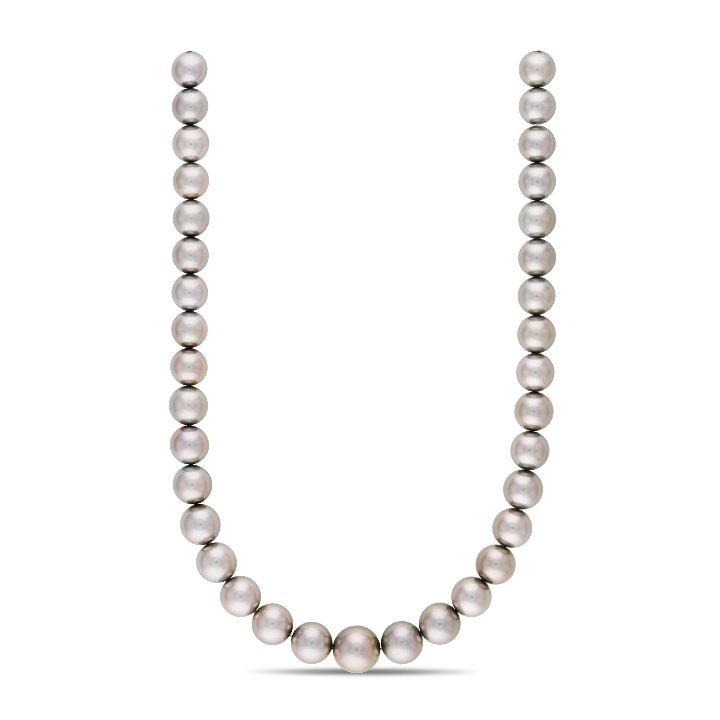 18-inch 11.0-14.5 mm AAA Round Tahitian Pearl Necklace