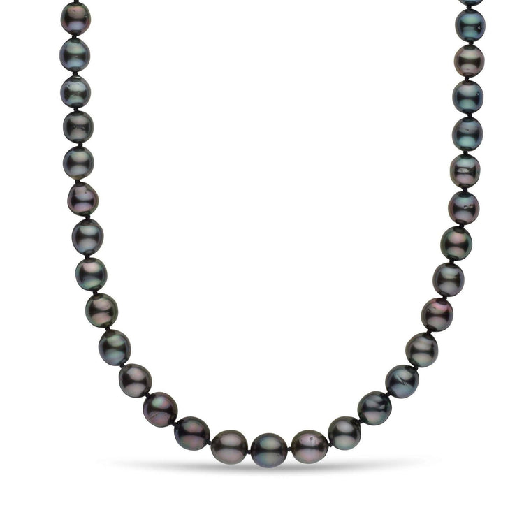8.0-10.5 mm AA+ Tahitian Oval Pearl Necklace
