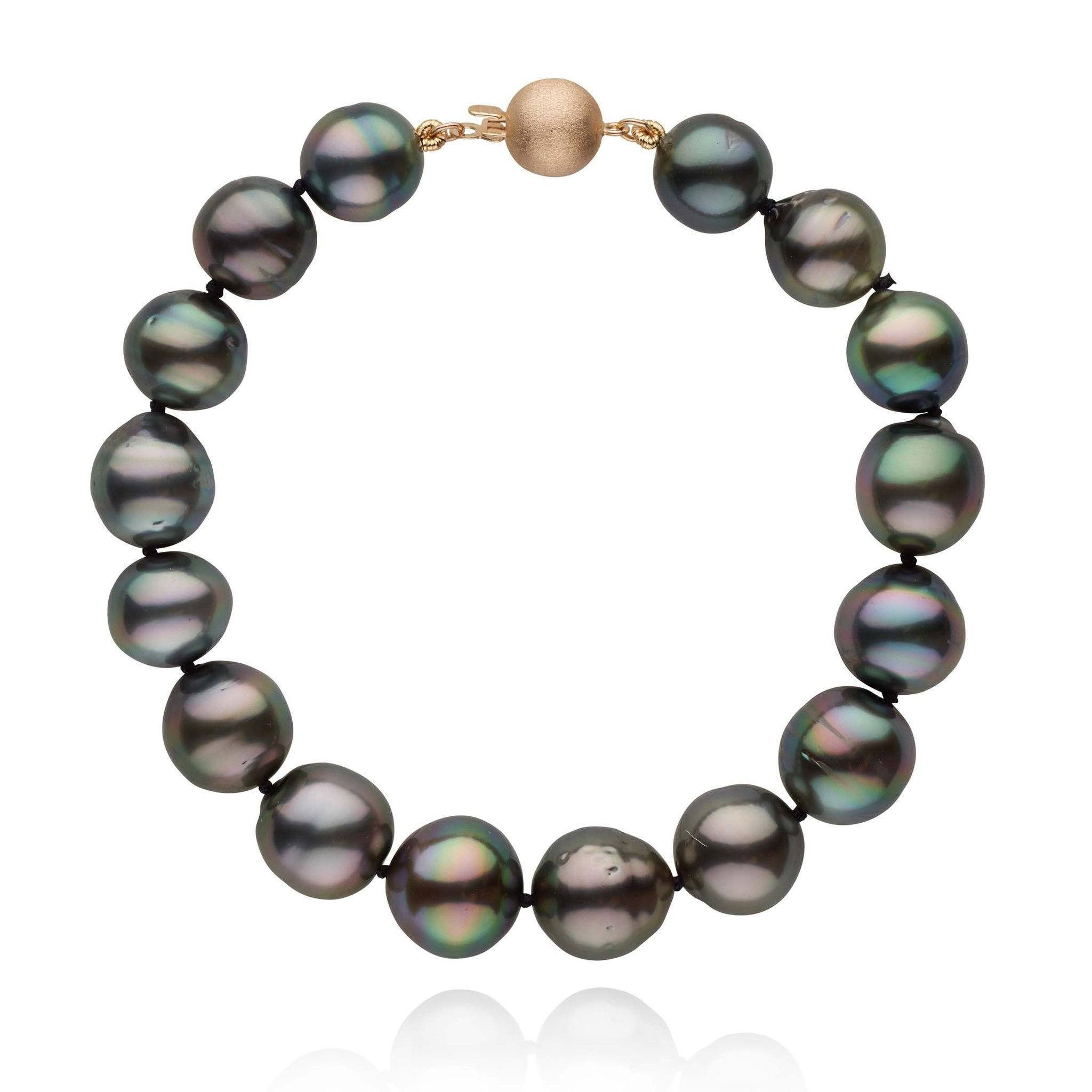 8.0-10.5 mm Tahitian Drop Pearl Bracelet