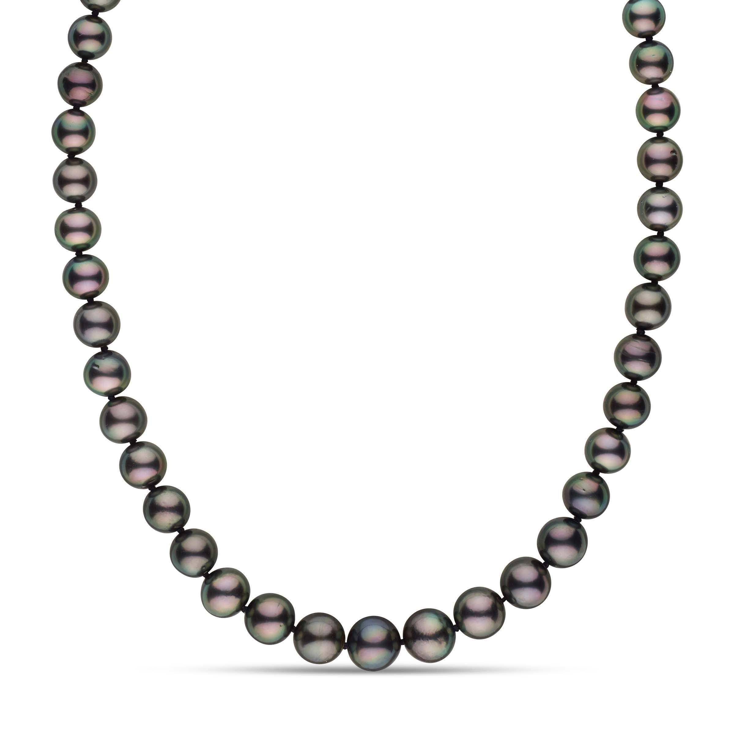 8.0-10.6 mm AA+ Round Tahitian Pearl Necklace