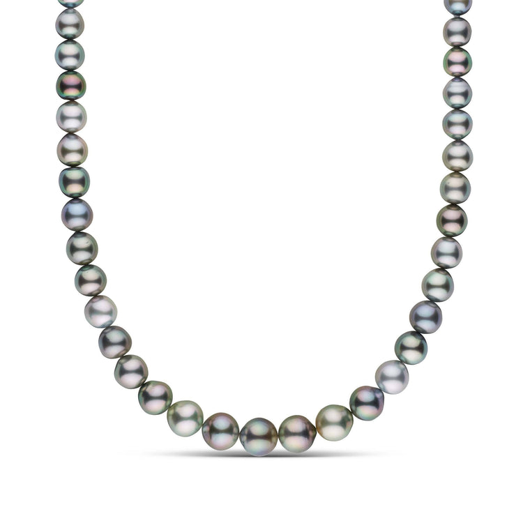 8.0-11.8 mm AAA Near Round Multicolor Tahitian Pearl Necklace