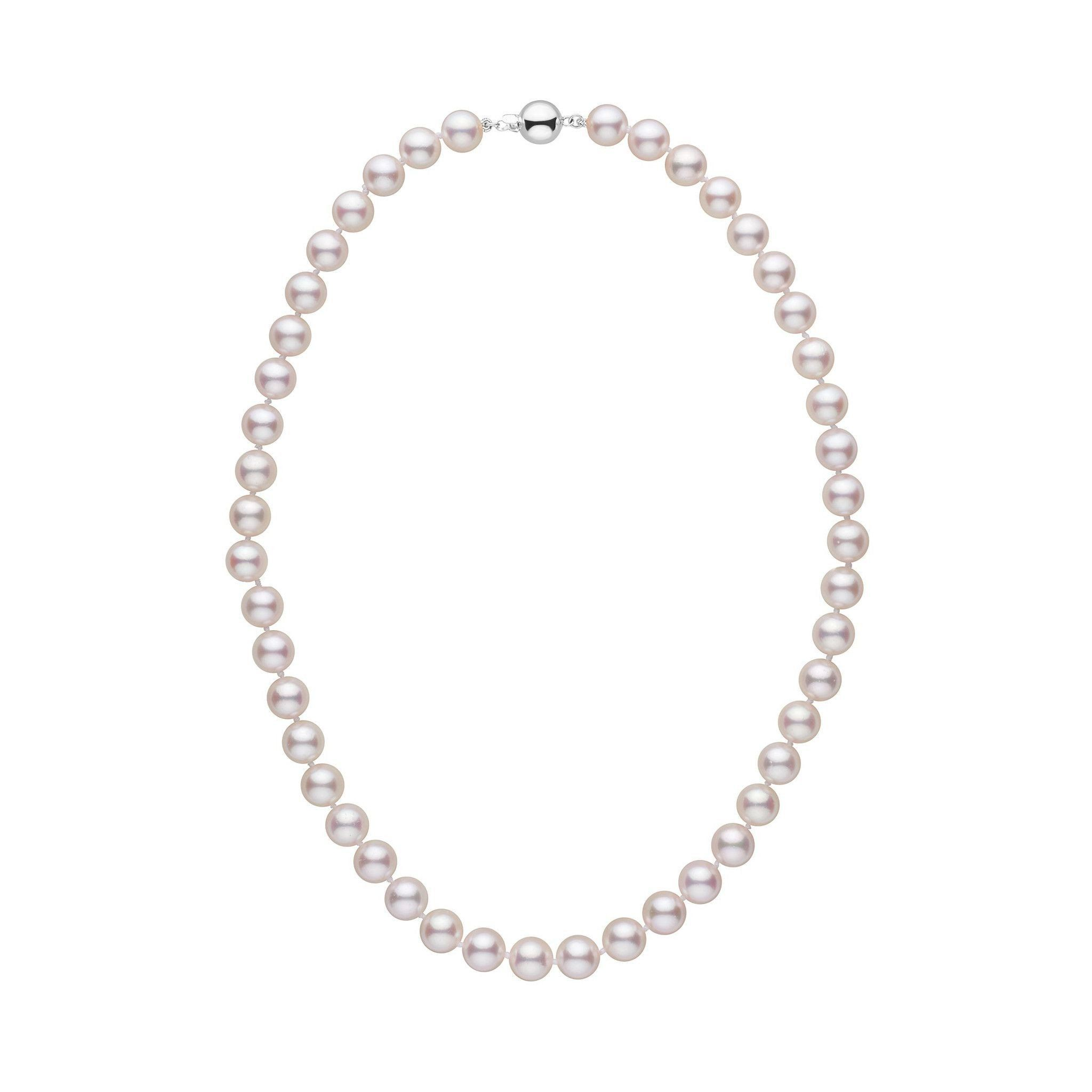 8.0-8.5 mm 16 Inch AA+ White Akoya Pearl Necklace