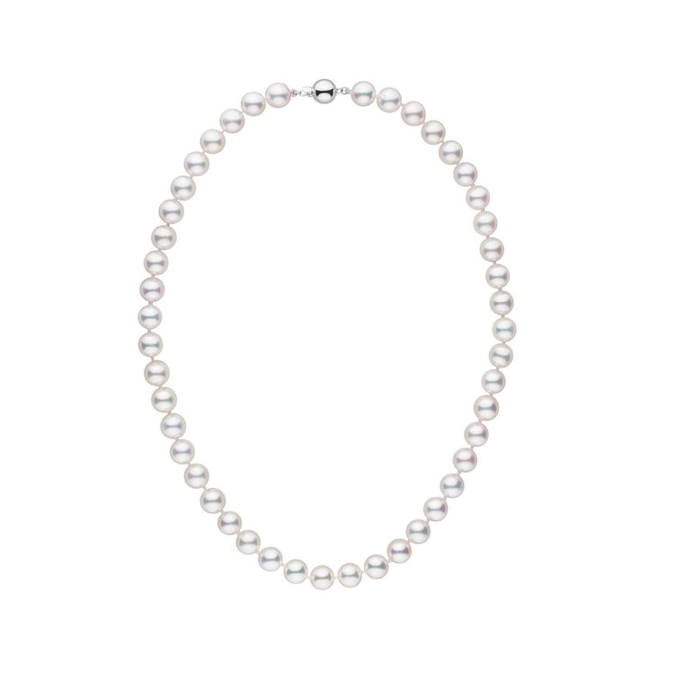8.0-8.5 mm 16 Inch AAA White Akoya Pearl Necklace