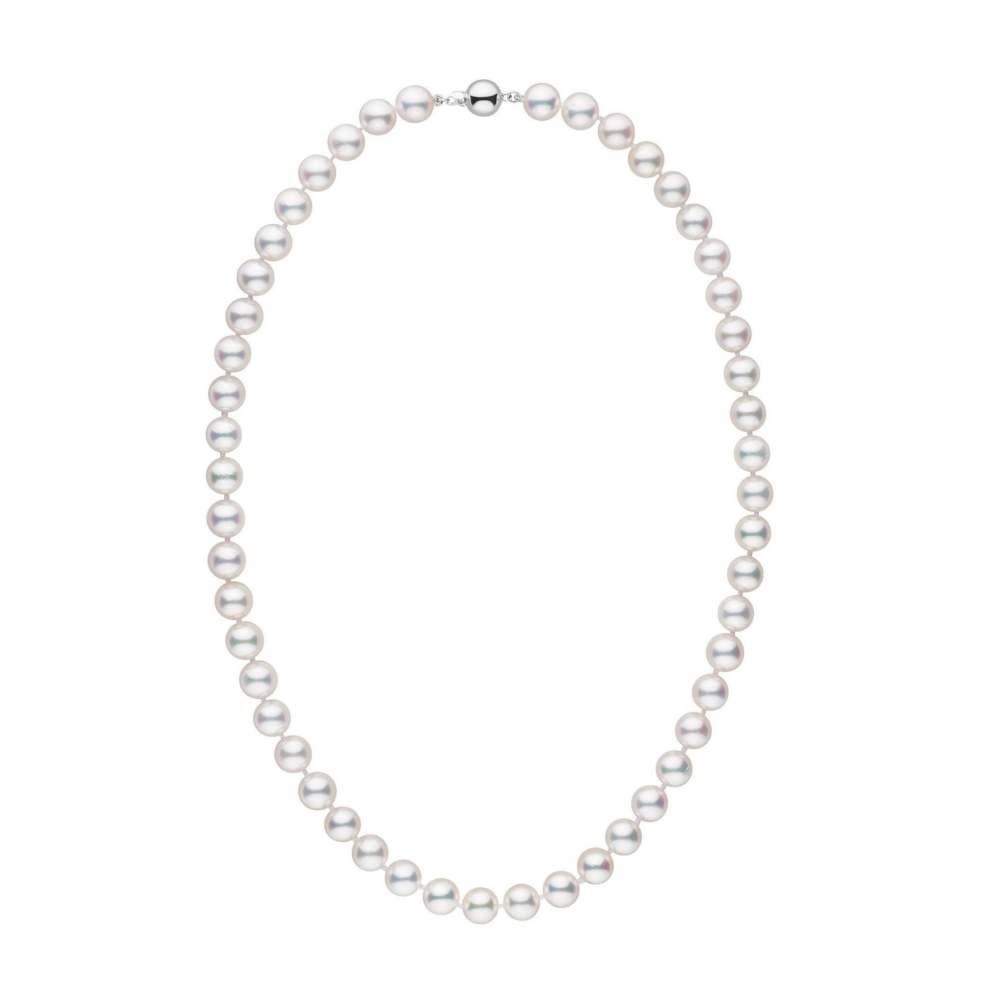 8.0-8.5 mm 18 inch AAA White Akoya Pearl Necklace