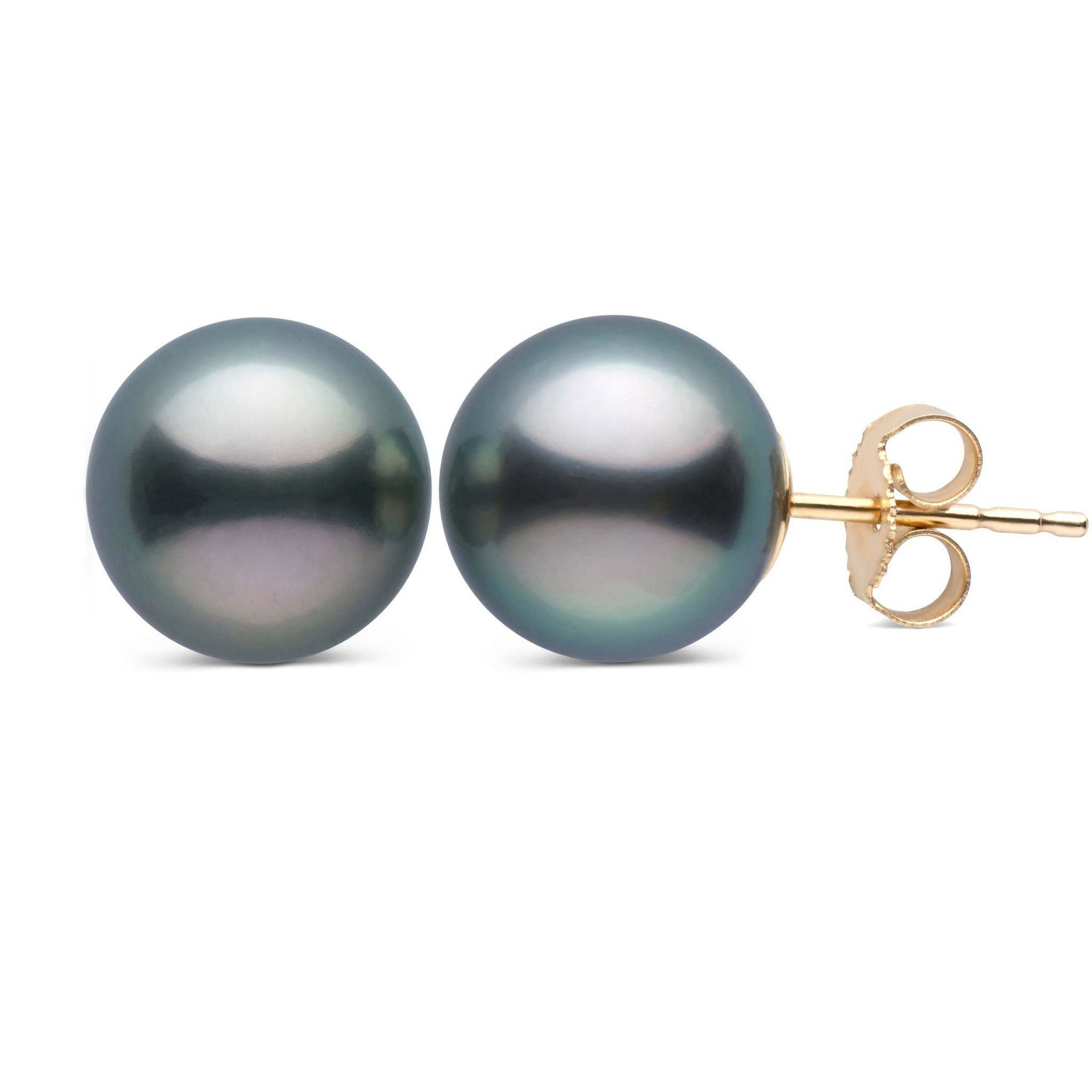 8.0-9.0 mm AAA Tahitian Pearl Stud Earrings