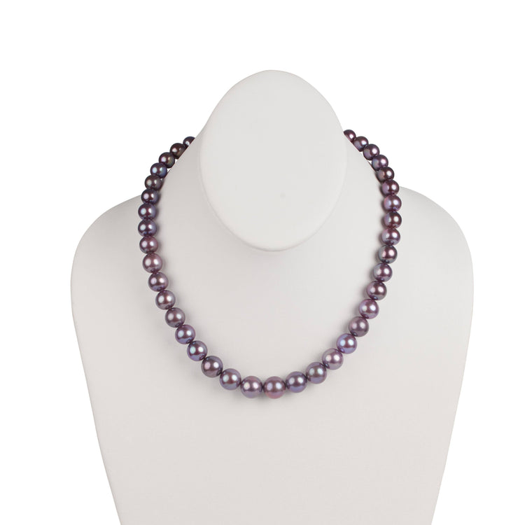 8.07-11.84 mm Limited Release Purple Metallic Edison Freshwater Necklace