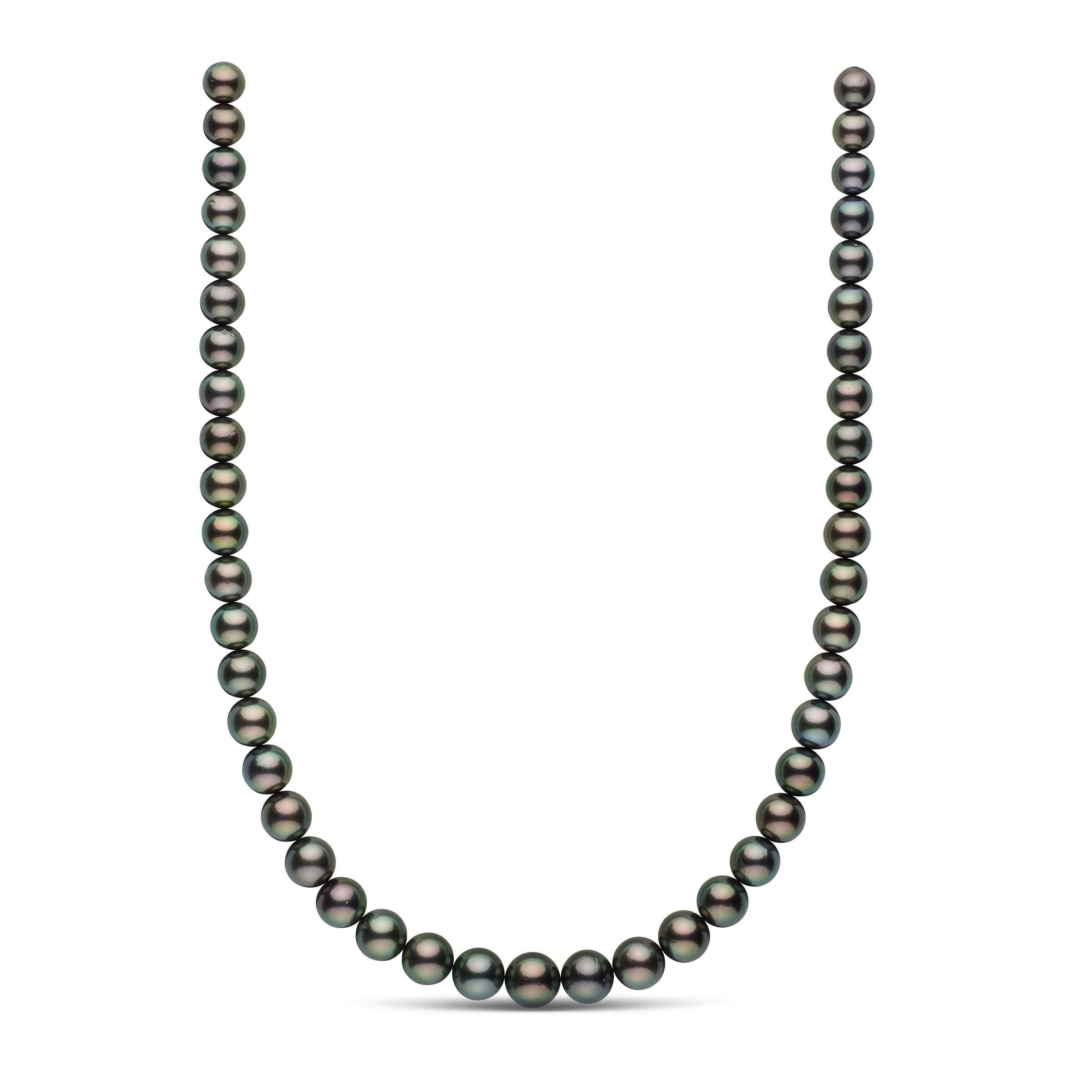8.1-10.9 mm AA+/AAA Round Tahitian Pearl Necklace